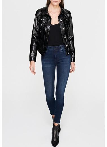 Mavi Jean Ceket Siyah